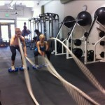 Hammering the ropes at Body Lab Fitness